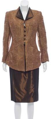 Nina Ricci Metallic Wool Skirt Set