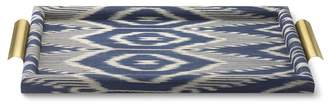 Williams-Sonoma Ikat Tray with Brass Handle