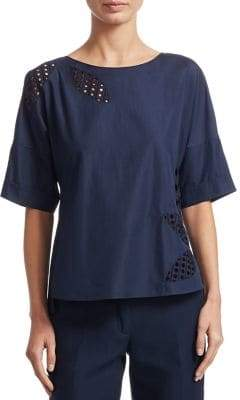 Akris Punto Tropical Lace Blouse
