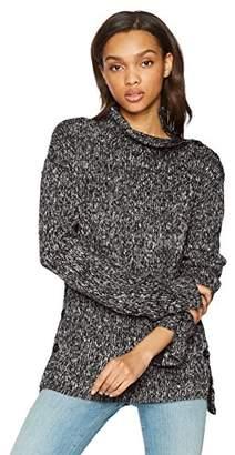 William Rast Women's Charlie Step Hem Long Sleeve Knit Sweater