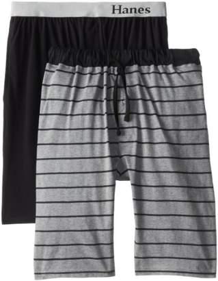 Hanes Men's Big-Tall Knit Sleep Short,(Pack of 2)