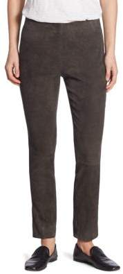Vince Stretch Suede Cropped Pants