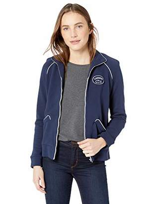 Lacoste Women's Long Sleeve French Terry Athleisure Badge Zip Sweatshirt