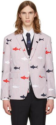 Thom Browne Tricolor Allover Shark Classic Blazer $3,300 thestylecure.com