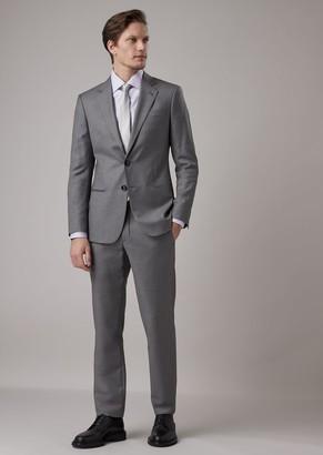 Giorgio Armani Slim Fit Soho Line Half-Canvas Suit In Wool And Cashmere Gabardine