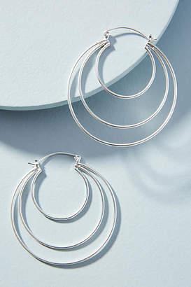 Anthropologie Cut-Out Hoop Earrings