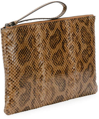 Bottega Veneta Anaconda Snakeskin and Leather Crossbody Bag