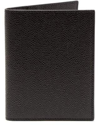 Thom Browne Leather Passport Holder - Mens - Black