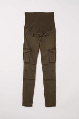 H&M MAMA Cargo Pants - Dark khaki green - Women