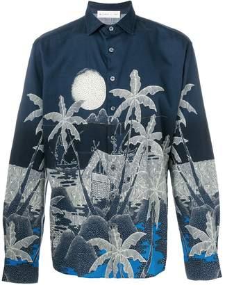 Etro palm trees print shirt