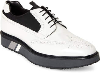Prada Wingtip Leather Platform Brogue Oxfords