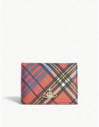 Vivienne Westwood Derby folding tartan leather wallet