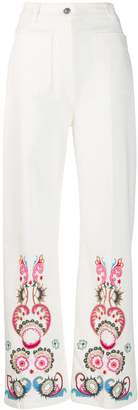 Etro flared embroidered jeans