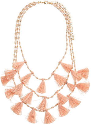 Panacea Triple Layer Tassel Necklace