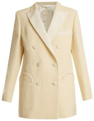 BLAZÉ MILANO Savannah Everyday silk and linen-blend blazer