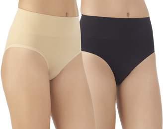 Vassarette Women's Comfortably Smooth 2 Pack Hi Cut Panty 14274