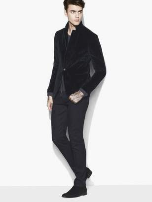 John Varvatos Velvet One Button Jacket