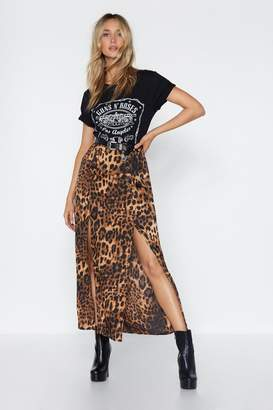 Nasty Gal I Want It That Way Leopard Maxi Skirt