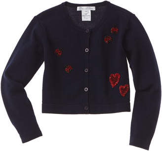 Oscar de la Renta Embroidered Wool & Cashmere-Blend Cardigan