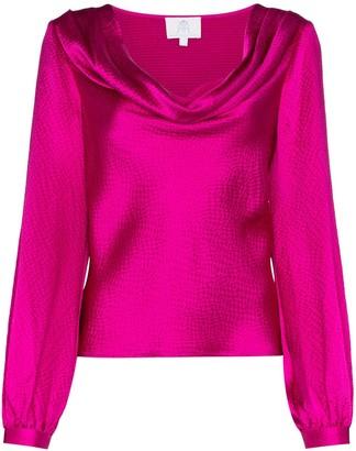 Rebecca De Ravenel cowl-neck blouse