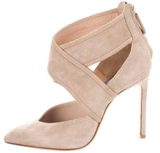 Lanvin Suede Pointed-Toe Booties