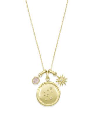 Kendra Scott February Aquarius Charm Necklace Set