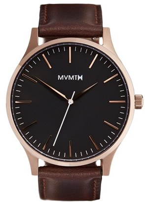 Mvmt Leather Strap Watch, 40Mm $120 thestylecure.com