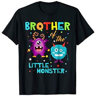 Brother Of The Little Monster Birthday Family Monster Shirts