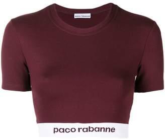 Paco Rabanne logo banded crop top