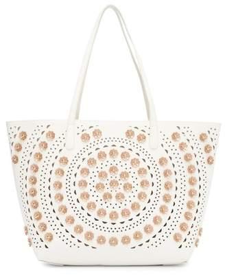 Sondra Roberts Perforated Tote Bag