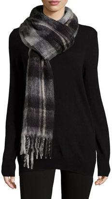 MARC by Marc Jacobs Blanket Plaid Knit Scarf $158 thestylecure.com