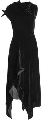 Roland Mouret Floor Length Velvet Gown with Silk