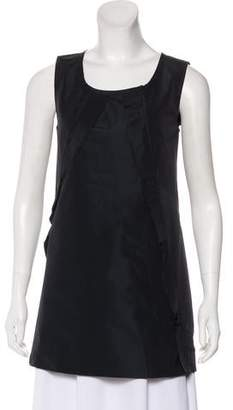 Miu Miu Pleated Sleeveless Tunic
