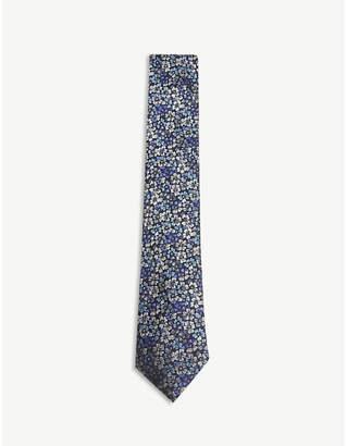 Duchamp Floral silk tie