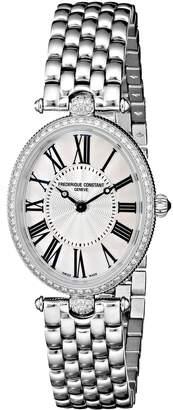 Frederique Constant Women's FC200MPW2VD6B Art Deco Analog Display Swiss Quartz Silver Watch