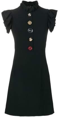 Dolce & Gabbana jewelled buttons cady dress