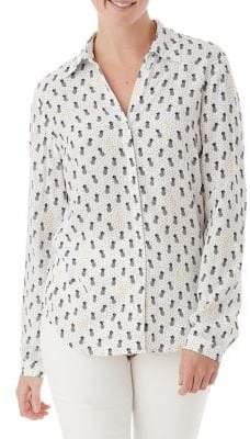 Olsen Pineapple-Print Blouse