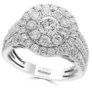 Effy Classique Diamond and 14K White Gold Cocktail Ring