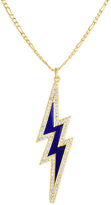 Lightning Bolt sphera milano Sphera Milano 18K Over Silver Cz Necklace
