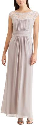 Chaps Women's Lace Yoke Evening Gown