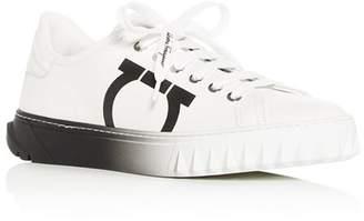 Salvatore Ferragamo Women's Cube Low-Top Sneakers