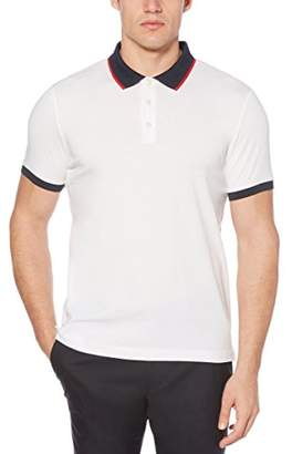 Perry Ellis Men's Dipped Collar Pima Cotton Polo