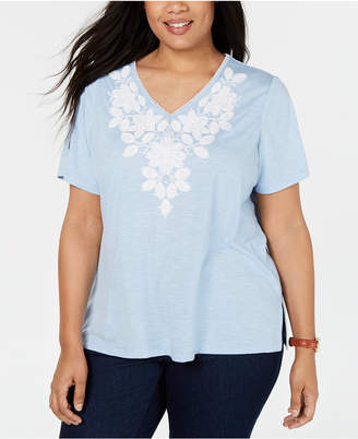 373225a45f Alfred Dunner Plus Size Monterey Embroidered T-Shirt