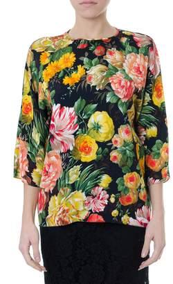 Dolce & Gabbana Multicolor Viscose Printed Blouse