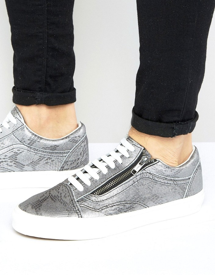 Vans Old Skool Metallic Sneakers In Silver VA3493LX9