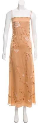 Alberta Ferretti Silk Slip Dress Brown Silk Slip Dress