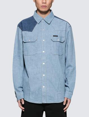 at HBX · Calvin Klein Jeans Archive Western Blocked Denim Shirt 3b1f04fea135
