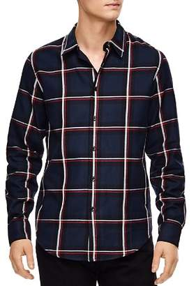 Sandro Tartan Plaid Slim Fit Button-Down Shirt