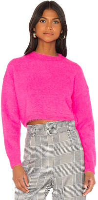 Bardot Cropped Fluffy Knit