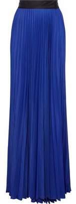 Diane von Furstenberg Pleated Sateen Wrap Maxi Skirt